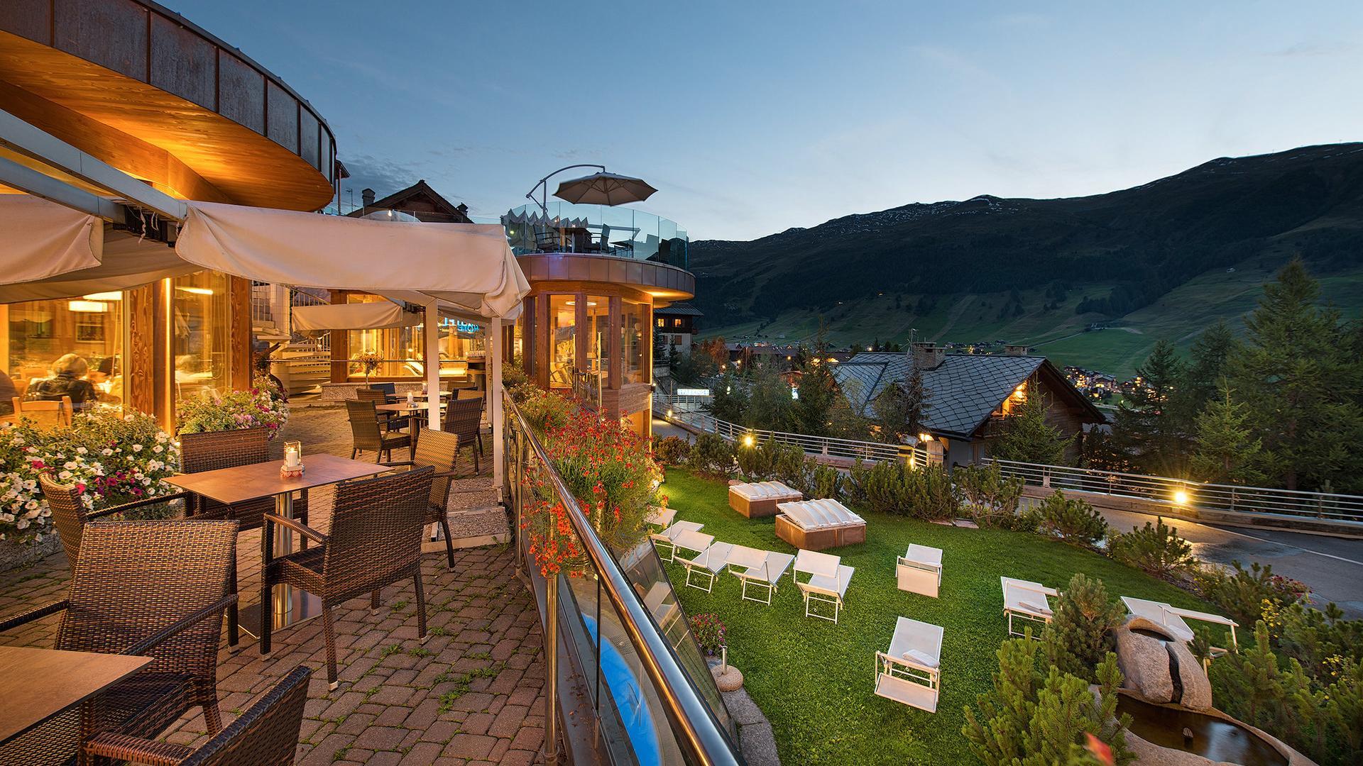 Livigno vista dall'Hotel Baita Montana