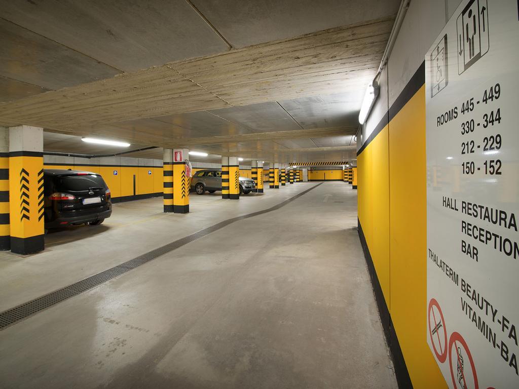 Il garage coperto del Baita Montana a Livigno