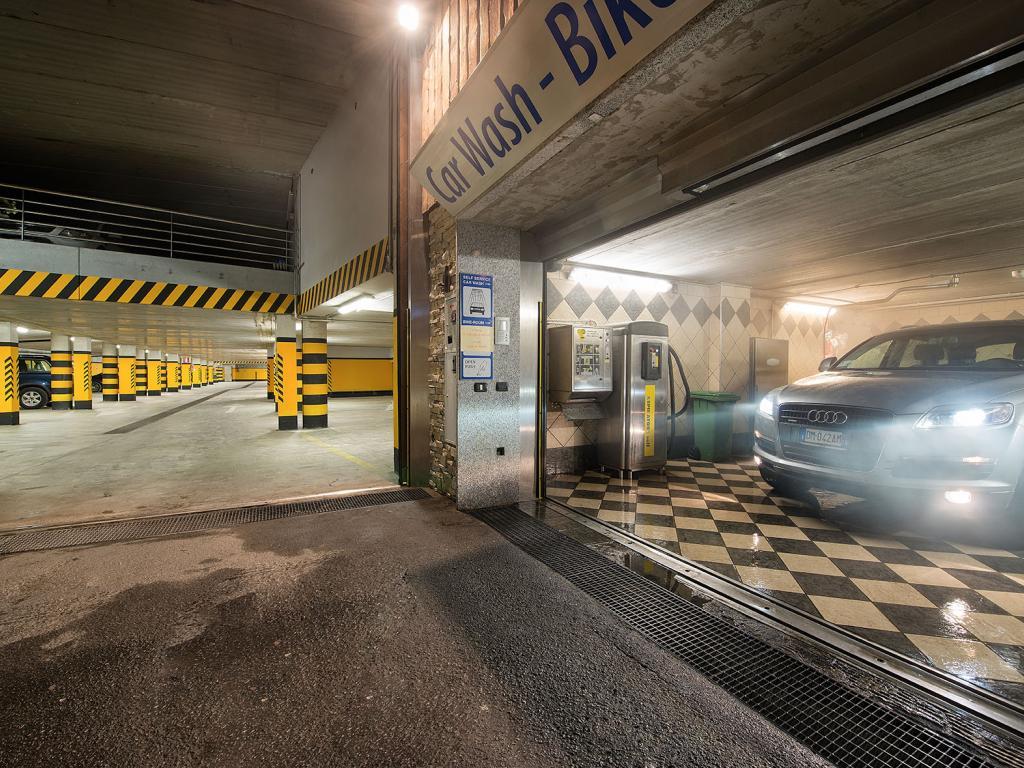 L'autolavaggio Sel service dell'hotel Baita Montana a Livigno